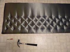 tufted upholstery headboard diy