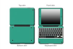 Give a new look and enhanced protection for your ClamCase Pro iPad Mini, Teal Matte Antimicrobial Skin Enhance with an Antimicrobial Coating Light sandy texture with a matte industrial look Great way to protect and cover scratches
