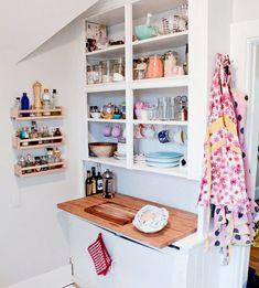 Comment amenager une petite cuisine ? - amenager-une- petite-cuisine-pas-cher-ikea-deco-étagère