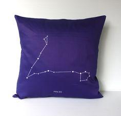 PISCES zodiac cushion astrology decorative by mybeardedpigeon, $49.00 #cushion #homewares #zodiac