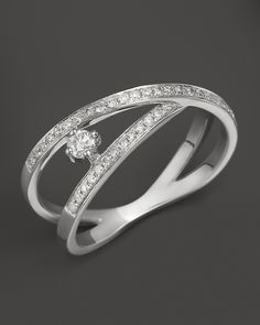 Diamond Ring in 14K White Gold, .25 ct. t.w. | Bloomingdale's