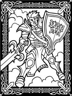 Fantasy Warriors Stained Glass Coloring Book - Google zoeken