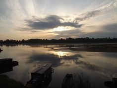 ciel du matin sur la Loire - La Toue Coeur