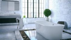 BATHROOM TRENDS 2018 – REMODEL YOUR BATHROOM IN STYLE! | 2018 BATH FIXTURE TRENDS | BATHTUBS - The most-desirable bathtubs are those that are designed for luxury, not just functionality.