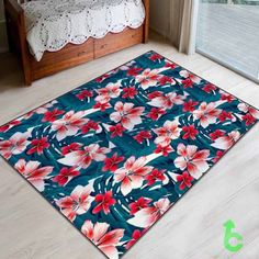 #red #and #white #tropical #hibiscus #flowers #seamless #Blanket #cover #quilts #throws #bedroom #bedding #giftidea #present #birthday #woman #decorative #bedding