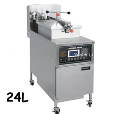 24L Gas Deep Fryer with LCD Control Panel Digital KFC Chicken Oil Pressure Fryer with Oil Pump Commercial Fryer PFG-600L