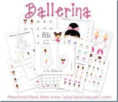 Ballerina Preschool Pack - 1+1+1=1