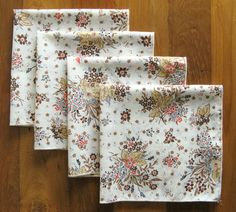 Floral Cloth Napkins-Set of 4 by MarketHome on Etsy, $20.00