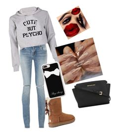 """""""Untitled #16"""" by alevsumer on Polyvore featuring UGG, Yves Saint Laurent, Casetify and MICHAEL Michael Kors"""