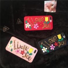 D&G ドルチェ&ガッバーナ キラキラ iphoneX/8/7s/7s plusケース 革製iPhone7/7 plus/6s/6s plusカバー スパンコール飾り 綺麗花柄