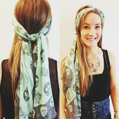 Cute way to wear one of our scarfs!