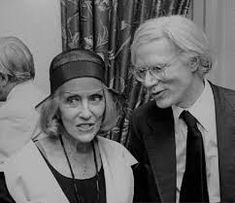 Gloria Swanson still partying hard at age 79 seen alongside Andy Warhol