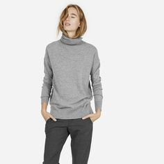 The Cashmere Turtleneck - Grey (Also Black, Camel, Ivory)