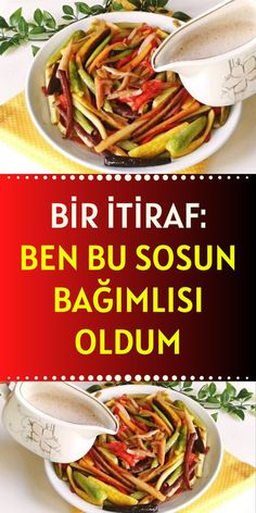 Sauce Recipes, Cooking Recipes, Healthy Recipes, Food Dishes, Side Dishes, Turkish Recipes, Ethnic Recipes, Appetizer Salads, Salad Dressing Recipes
