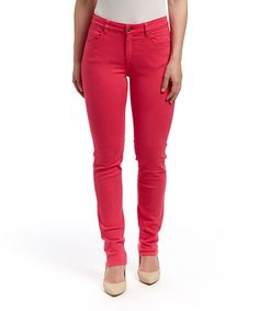 Look what I found on #zulily! Peony Mustang Sally Straight-Leg Jeans by LNO jeans #zulilyfinds