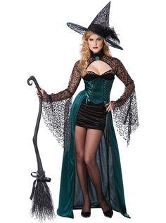 Hübsches Hexenmeisterin Kostüm für Damen