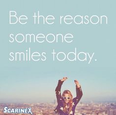 You have the power to turn someones frown upside down! Do something to make someone smile today. #bekind Check more out at http://www.scarinex.com/