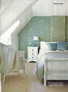 Laura ashley wallpaper summer palace eau de nil leftovers for Eau de nil bedroom ideas