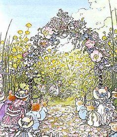 """Jill Barklem - illustration (""""Brambly Hedge"""" series, """"Summer Story"""", 1980)"""