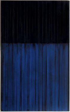 Pierre Soulages - Peinture 222x137 cm - 3 février 1990 -  « Il ne représente pas, il présente. » - Du noir naît le lumière