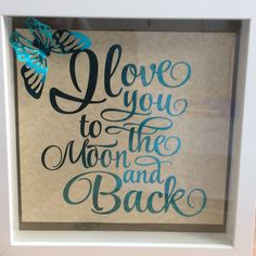 Moon and back shadow box