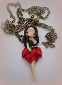 Rose girl entirely handmade with polymer clay (FIMO). By Katalin Handmade (2013)