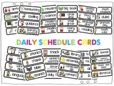 Emily K Cole: Daily Schedule Cards