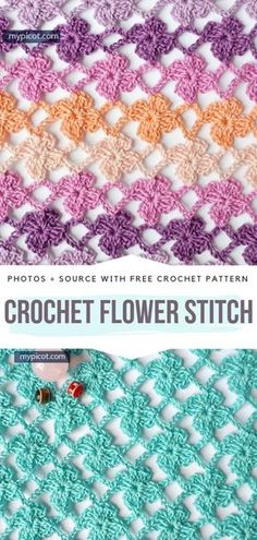 Crochet Lace Stitches Free Patterns - - Crochet stitches come in all shapes and sizes. Some crocheters prefer dense and structural stitches, and others love lacy and delicate designs. The stitch. Crochet Stitches Free, Stitch Crochet, Knit Crochet, Different Crochet Stitches, Chevron Crochet, Crochet Geek, Form Crochet, Crochet Diagram, Crochet Flower Patterns