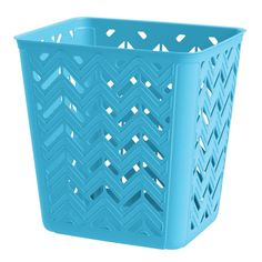 United Solutions 4 Gal. Chevron Trash Can in Aquarius-SR8365 - The Home Depot