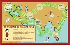 Il Viaggio di Marco Polo - Free printable board game in Italian
