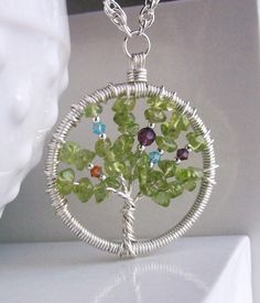 family tree necklace. very cute I'm gonna try this for sure.