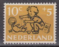 NVPH-Netherlands-Nederland-nr-599-MNH-PF-kinderzegels-1952-Pays-Bas
