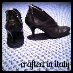 Black Booties! Made in Italy.  Bought it while in Italy.  Wore it a few times.  Originally retailed at $185 roughly (don't remember the euro exchange exactly).  FREE MYSTERY GIFT WITH THIS PURCHASE  Shoes Ankle Boots & Booties