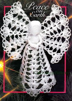 Christmas Angel Pattern .. Crochet Tree Top Angel .. PDF Crochet Pattern .. Christmas Decoration .. Family Heirloom .. Instant Download