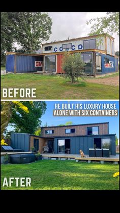 Container Van House, Cargo Container Homes, Shipping Container Home Designs, Building A Container Home, Storage Container Homes, Container House Design, Shipping Container Buildings, Shipping Containers, Metal Building Homes