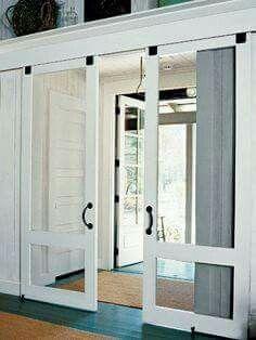 Sliding screen door - barn style