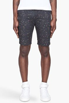 Opening Ceremony Washed Black Confetti Chino Shorts for men | SSENSE