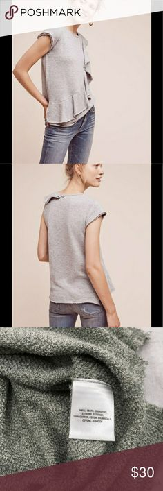 Anthropologie Deletta Grey Sweatshirt blouse Soft and cozy Anthropologie Tops Blouses