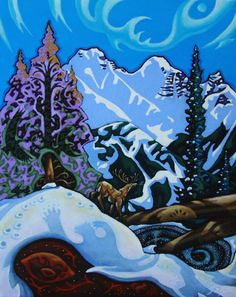 K Neil Swanson Canada House, Artwork Display, All Art, Presents, Gallery, Painting, Snow, Winter, Gifts