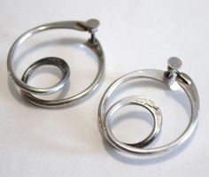 RARE Art Smith Modernist Vintage Signed Sterling Silver Earrings #ArtSmith