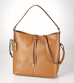 Lauren Ralph Lauren® Crawley Leather Hobo | Herberger's