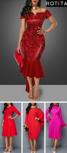 Cheap red Dresses online for sale 83a3a083c