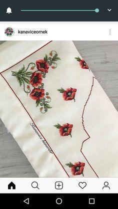 Needlepoint Designs, Prayer Rug, Cross Stitch Designs, Blackwork, Poppies, Needlework, Diy And Crafts, Embroidery, Holiday Decor