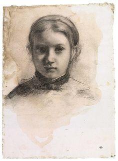 Edgar Degas - Portrait of Giovannina Bellelli