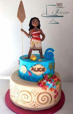 Moana - Cake by Torte Titiioo Moana Themed Party, Moana Party, Disney Cakes, 6th Birthday Parties, Fourth Birthday, Luau Party, Cute Cakes, Themed Cakes, Party Cakes