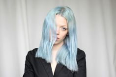"Love Aesthetics | ""Lagoon Blue Hair"" #ColorfulHair #LoveAesthetics #IvaniaCarpio"