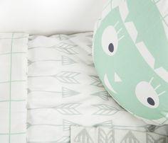 Donsovertrek ARROWS green-grey   Mini Roomblush
