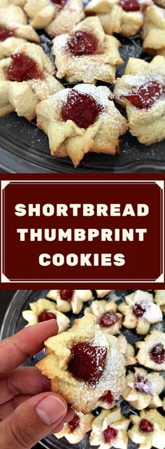 Shortbread thumbprint cookies filled with quince jam and sprinkled with vanilla sugar, so soft and tasty. Grab some now, before the cookie monster eats them up! Great for Christmas or any other celebration. #thumbprintcookies , #shortbreadthumbprintcookies, #thumbprintjamcookies, #christmascookies , #shortbreadcookies