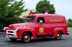 1956 International S-110 Emergency Ambulance...