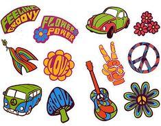 Años 60: Iconos para Imprimir Gratis. | Ideas y material gratis para fiestas y celebraciones Oh My Fiesta!